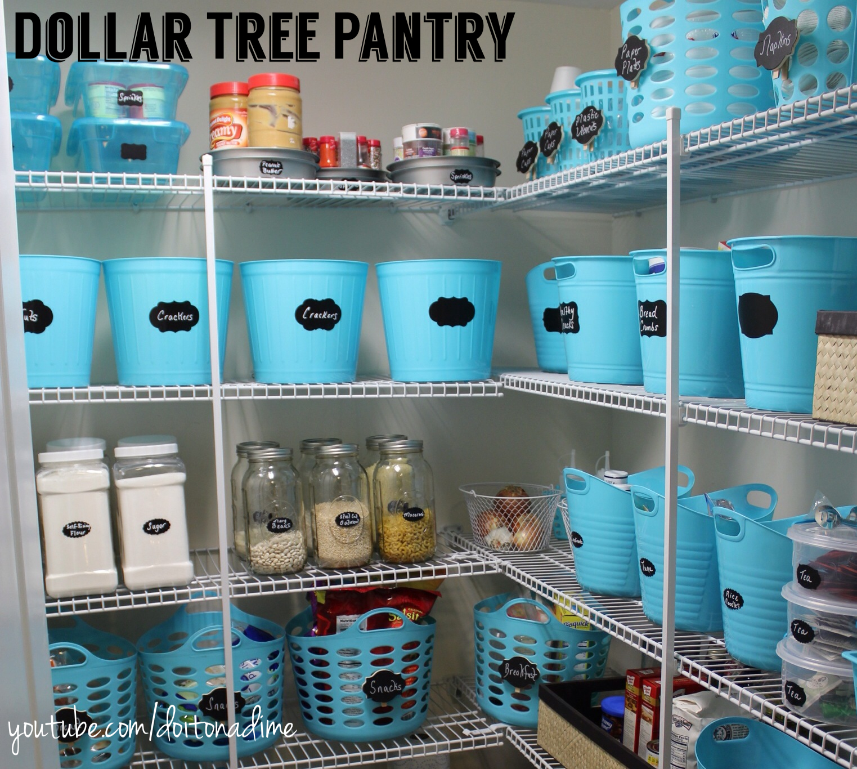Pantry Organization: Dollar Tree Style!