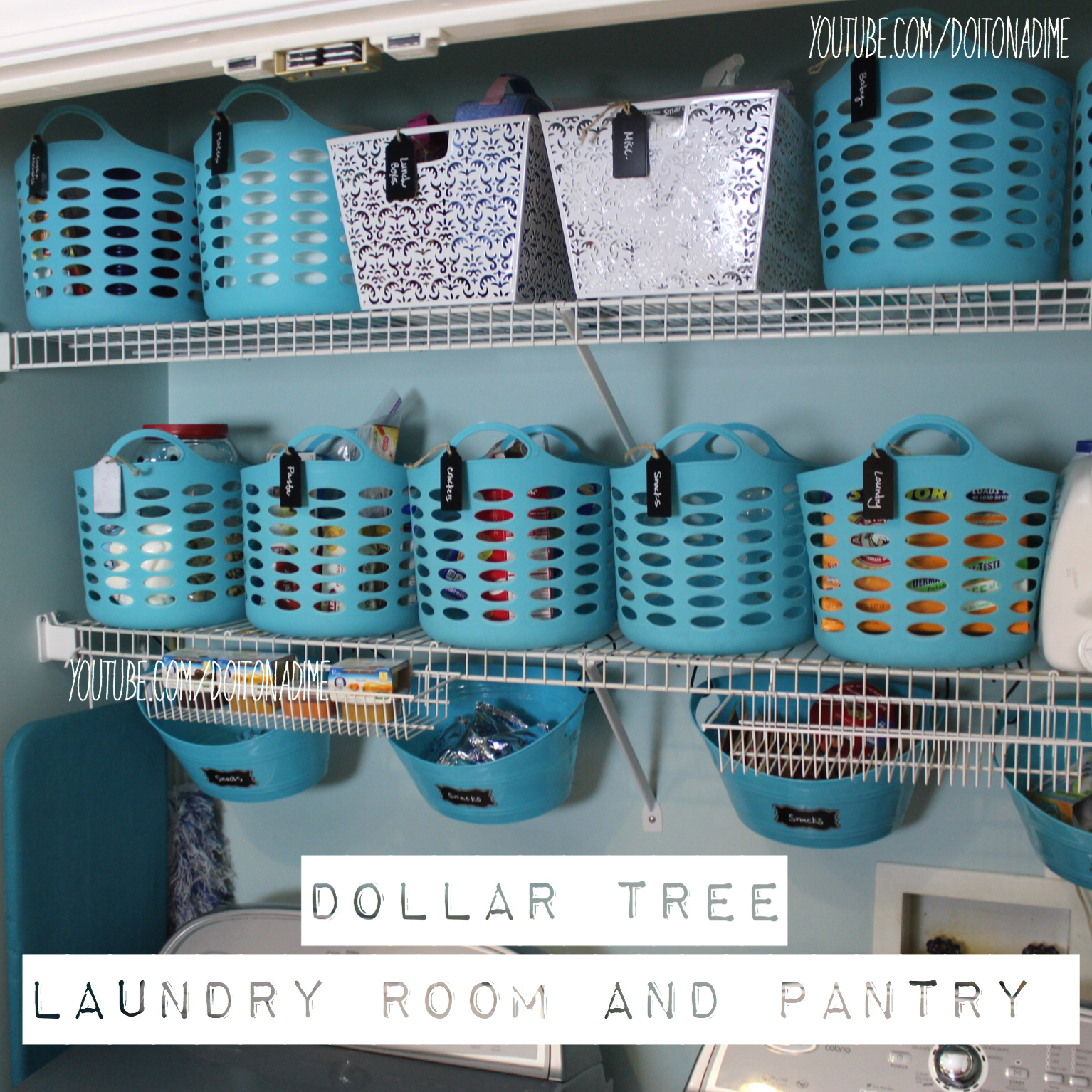 Organizing With Dollar Store Items: Dollar Tree Organizing Makeover