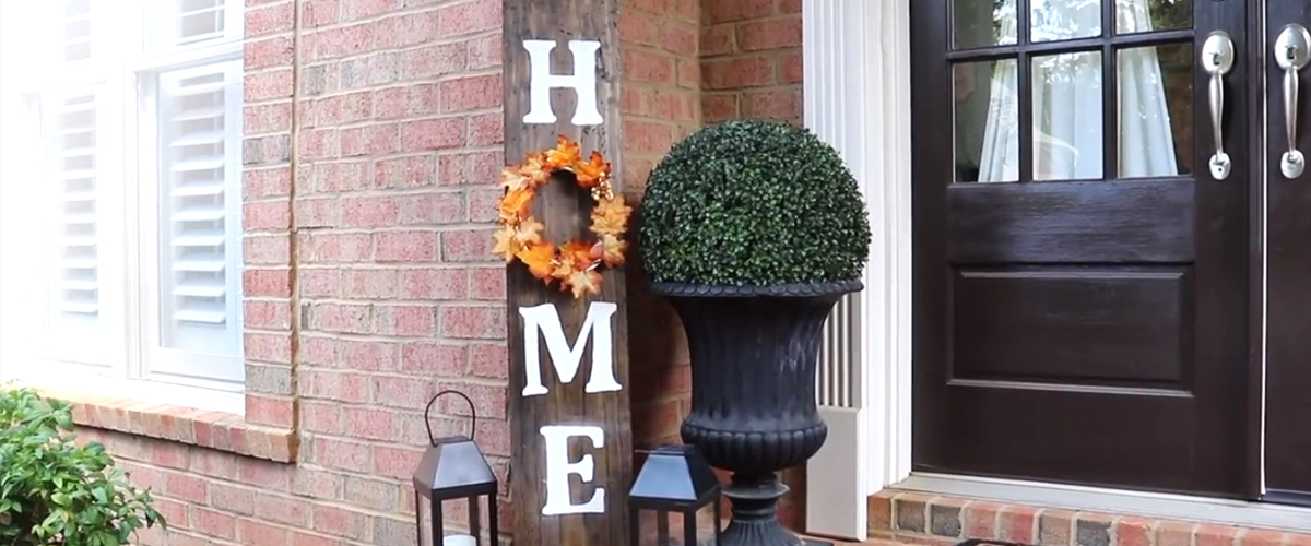 DOLLAR TREE FALL PORCH DIYS | Wood Sign, Wreath & More