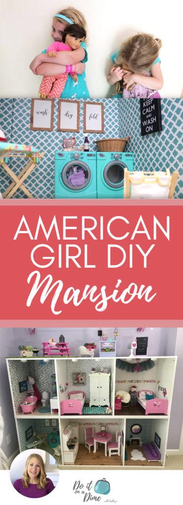Huge Dollar Tree Ikea Build American Girl Doll House Diy Tour