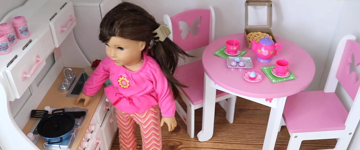 HUGE DOLLAR TREE & IKEA BUILD 💕 American Girl Doll House DIY & Tour!